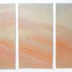 Estampe tissée, 2005 Tapisserie de soie, 3 x 80 x 40 cm