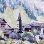 Aquarelles et dessins de Gérald Dénéréaz, Sculptures sur bois de Jean Monnet-Magnin, 10 - 24 août